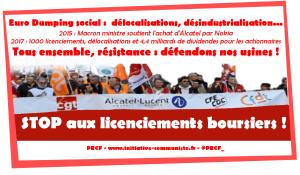 Bilan de Macron : 1 000 emplois supprimés à Alcatel Lucent Nokia, secteur stratégique euro délocalisé, liquidé !
