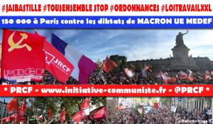 #jaibastille énorme manifestation à Paris : plus de 150 000 pour les droits des travailleurs contre le coup d'État social de Macron-UE-MEDEF