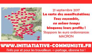 #manif21septembre : la carte des manifestations du 21 septembre. L'heure est à l'action !