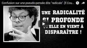 """Francis Cousin: Confusion sur une pseudo-pensée dite """"radicale"""" #vidéo"""