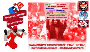 Italie, Grèce, Allemagne… soutien populaire à la résistance contre les euro ordonnances #loitravailxxl #12sept #greve12septembre