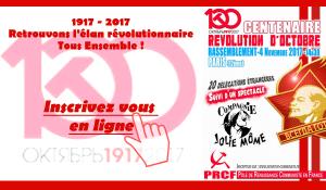 Révolution d'Octobre : 4 novembre rassemblement international, inscrivez vous ! [1917 REVOLUTION 2017]
