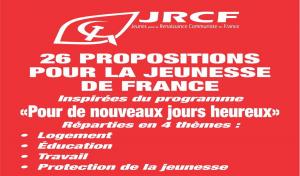 JRCF : 26 PROPOSITIONS POUR LA JEUNESSE DE FRANCE !