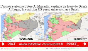 La Syrie libère Al Mayadin, la coalition US passe un accord avec Daesh à Raqqa, la Turquie envahit la province d'Idleb