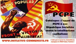 Catalogne : l'appel du PCPE à une République Socialiste contre le totalitarisme capitalisme