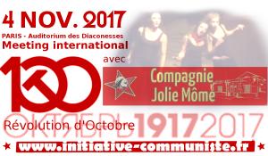 La compagnie Jolie Môme présente le 4 nov. pour le meeting des 100 ans de la Révolution d'Octobre
