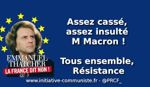 Assez cassé, assez insulté M. Macron ! Après l'entretien présidentiel télévisé du 15 octobre 2017