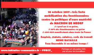 Grèves et manifestations : Très forte mobilisation de la fonction publique contre l'euro- austérité