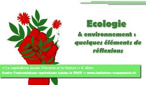 Ecologie & Environnement : quelques éléments de réflexions