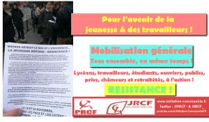 #vidéo Ordonnances, réforme du BAC = même combat. L'appel du PRCF & le tract des JRCF ! #NonALaSelection
