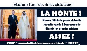 Macron félicite le prince d'Arabie Saoudite que le Liban accuse de détenir son premier ministre
