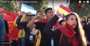 «Sotchi: le Festival de la jeunesse censuré»  reportage vidéo au sein du Festival de la Jeunesse, avec les jeunesses communistes