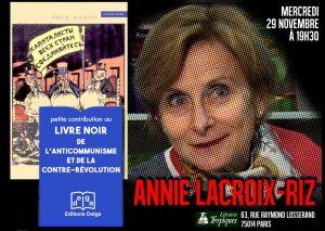 29/11 Conférence : Le livre noir de l'anticommunisme, avec Annie Lacroix-Riz #Paris