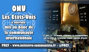 ONU : Les États-Unis mis au ban de la communauté internationale