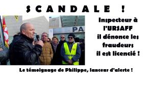 #Lanceurdalerte: Philippe Pascal syndicaliste à l'URSAFF témoigne #vidéo