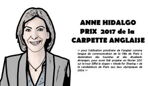 Anne Hidalgo remporte le prix … de la carpette anglaise