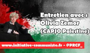 BDS, ouverture d'une enquête de la CPI sur les crimes israéliens et situation de la Palestine,  Olivia Zemor, présidente de CAPJO Europalestine, répond aux questions d'IC.