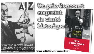 Un prix Goncourt empreint de clarté historique