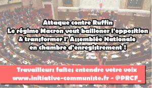 60 000 personnes soutiennent Ruffin contre les oukases de De Rugy prétendant commander les députés !