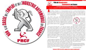 « RUPTURES CONVENTIONNELLES » A PEUGEOT : LE P.R.C.F. DENONCE LA TRAHISON DES « SYNDICATS » QUI « ACCOMPAGNENT » LA CASSE DE L'EMPLOI et de l'INDUSTRIE AUTOMOBILE EN FRANCE ! #tract