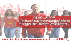 Russie : les russes majoritaires à regretter l'Union Soviétique !