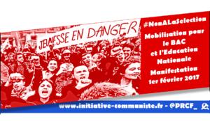 Dans les facs et les lycées la colère monte, manifestation le 1er février #NonALaSelection