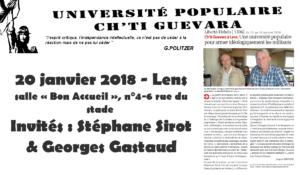'université populaire Ch'ti Guevara reçoit Stéphane Sirot #Lens #20janvier2018