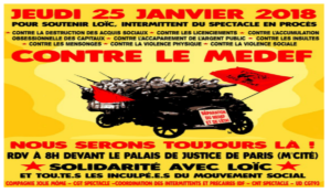 25.01.18  soutient à Loic, séparation du MEDEF et de l'Etat !
