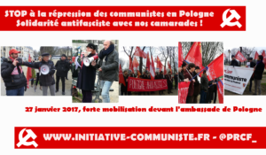 Rassemblement de solidarité avec les communistes polonais