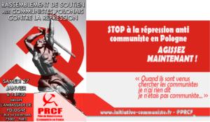 Manifestation contre la répression des communistes en Pologne – 27 janvier – 14h30 devant l'Ambassade de Pologne à Paris