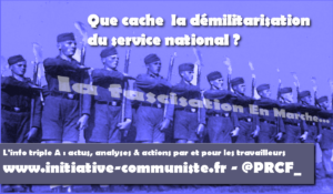 Service national : refuser l'embrigadement des jeunes ! #JRCF