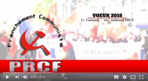 En vidéo : Les voeux 2018 de Georges Gastaud Secrétaire National du PRCF