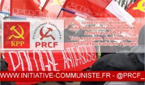 Le Parti Communiste Polonais remercie le PRCF
