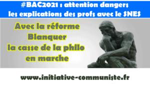 #Bac2021 : En réalité Macron Blanquer supprime la #Philo. Les explications du #SNES