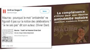 Quand Olivier Dard fait preuve d'un dangereux laxisme envers Maurras, antisémite notoire