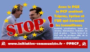 Avec le PGE le PCF soutient Tsipras, Syriza et l'UE qui écrasent les travailleurs