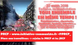 22 mars pour le tous ensemble gagnant : le tract diffusé par les militants du PRCF