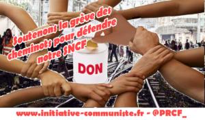 Une cagnote pour soutenir la grève des cheminots et défendre notre SNCF contre l'euro privatisation !
