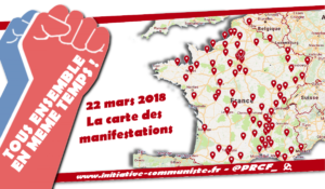 #22mars la carte des manifestations partout en France : tous ensemble #grève !