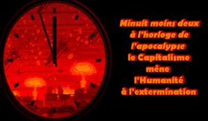 Minuit moins deux à l'horloge de l'apocalypse