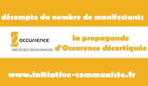 Décompte du nombre de manifestants : la propagande d'Occurrence décortiquée #média #22mars