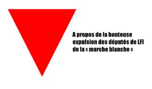 A propos de la honteuse expulsion des députés de LFI de la « marche blanche »