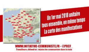 #1ermai : la carte des manifestations du 1er mai près de chez vous !