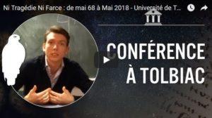#vidéo de mai 1968 à mai 2018 : Loïc Chaigneau à l'Université de Tolbiac …