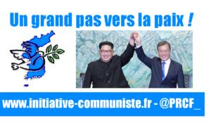 Un grand pas vers la paix !  #corée