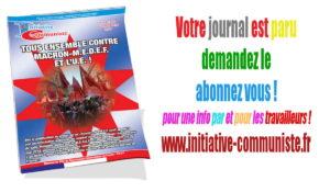 Initiative Communiste n°192, avril-mai 2018, est paru : au sommaire…