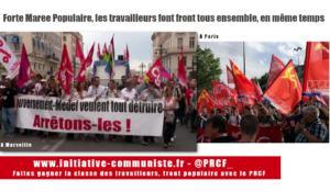 #mareepopulaire : Forte mobilisation et tous ensemble pour opposer un front populaire aux attaques de Macron-UE-MEDEF