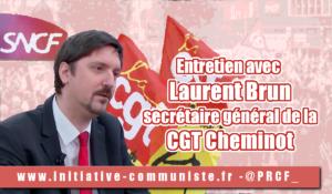 Entretien avec Laurent BRUN, secrétaire général de la CGT Cheminots #greveSNCF #jesoutienslagrevedescheminots