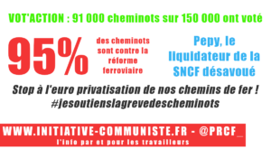 #votaction 90 000 cheminots votent stop à la réforme privatisant la SNCF #jesoutienslagrèvedescheminots