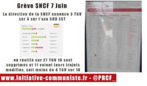 Grève SNCF : Moins d'un 1 TGV sur 2 circulent contrairement aux chiffres de la SNCF